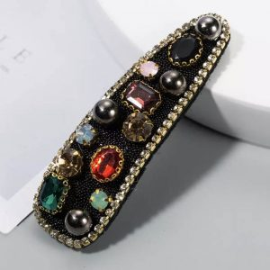 Rhinestone-Hair-Clip-in-Green-or-Red-Marlow-Buckinghamshire-United-Kingdom-Toria-Lee-Accessories