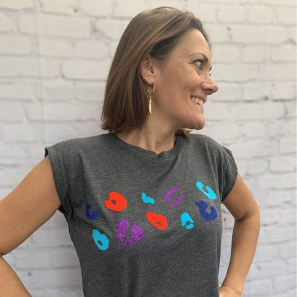 Grey-Flowy-T-shirt-with-Turquoise-Coral-and-Purple-Print-Marlow-Buckinghamshire-United-Kingdom-Toria-Lee-Accessories
