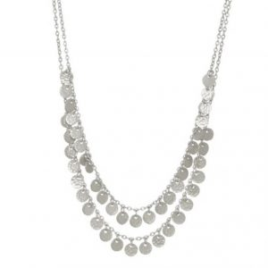 Two-Row-Boho-Coin-Necklace-Silver-Gold-Marlow-Buckinghamshire-United-Kingdom-Toria-Lee-Accessories