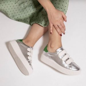 Velcro-Silver-Sneakers-Trainers-with-Metallic-Green-Marlow-Buckinghamshire-United-Kingdom-Toria-Lee-Accessories