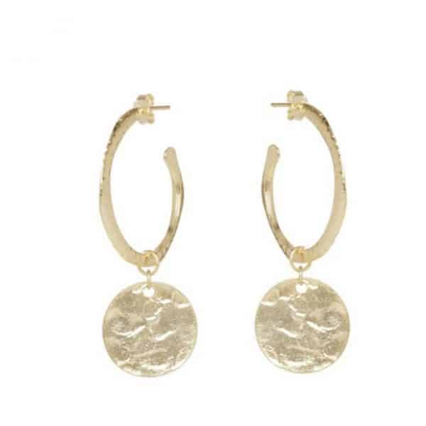 Esmerelda-Medium-Hoop-Earrings-in-Gold-or-Silver-Marlow-Buckinghamshire-United-Kingdom-Toria-Lee-Accessories