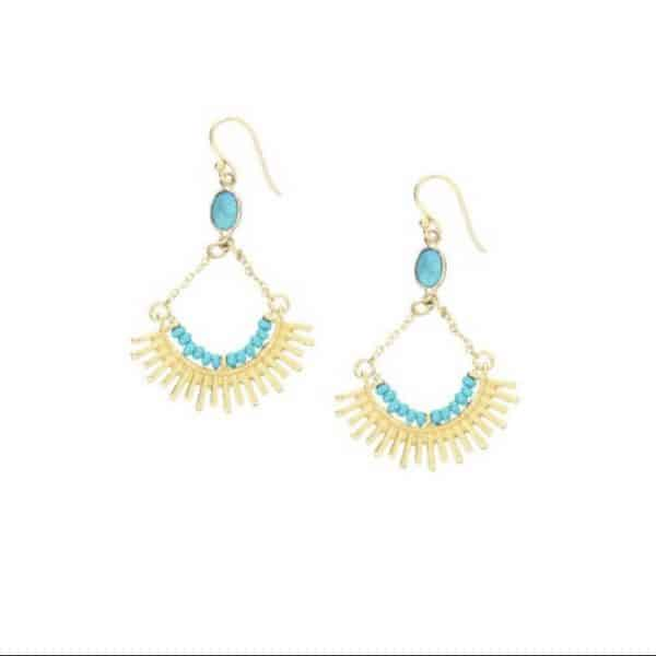 Skylar-Gold-Drop-Earrings-with-Turquoise-Gemstone-Marlow-Buckinghamshire-United-Kingdom-Toria-Lee-Accessories