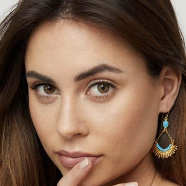 Skylar-Gold-Drop-Earrings-with-Turquoise-Stone-Marlow-Buckinghamshire-United-Kingdom-Toria-Lee-Accessories