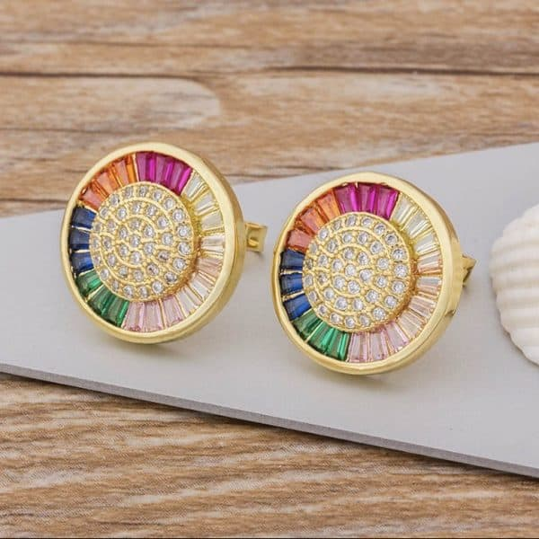 Gold-Stud-Earrings-with-Rainbow-Coloured-Crystals-Marlow-Buckinghamshire-United-Kingdom-Toria-Lee-Accessories