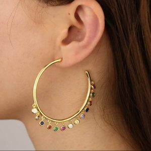 Leonora-Large-Gold-Hoops-with-Little-Rainbow-Crystals-Marlow-Buckinghamshire-United-Kingdom-Toria-Lee-Accessories