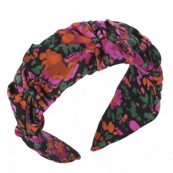 Ruched Floral-Headband-in-Pink-or-Green