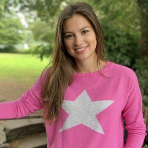 Classic-Star-Cashmere-Sweater-in-Pink-Marlow-Buckinghamshire-United-Kingdom-Toria-Lee-Accessories