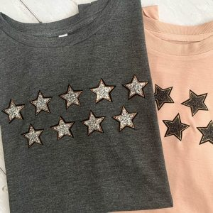 Eliza-Grey-Flowy-T-Shirt-with-Silver-Glitter-Stars-Marlow-Buckinghamshire-United-Kingdom-Toria-Lee-Accessories