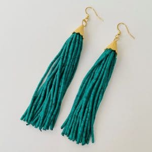 Layla-Long-Tassel-Earrings-in-Green-Toria-Lee-Accessories-Marlow-Buckinghamshire-United-Kingdom