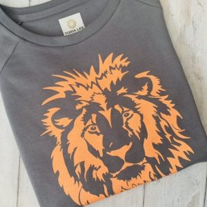 Grey-Lava-Sweatshirt-with-Leo-Lion-Orange-Design-Marlow-Buckinghamshire-United-Kingdom-Toria-Lee-Accessories