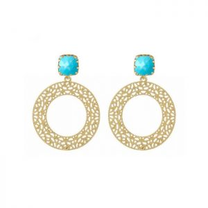 Luisa-Gold-Hoop-Earrings-with-Turquoise-or-Berry-Agate-Gemstones-Marlow-Buckinghamshire-United-Kingdom-Toria-Lee-Accessories