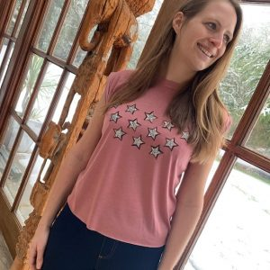 Elizabeth-Mauve-Flowy-T-shirt-with-Silver-Glitter-Stars-Marlow-Buckinghamshire-United-Kingdom-Toria-Lee-Accessories