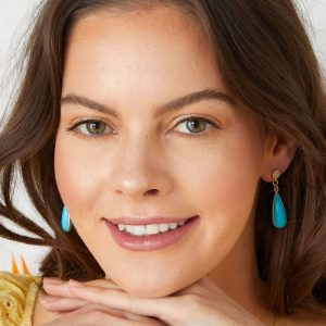 Gold-Ocean-Drop-Crystal-Earrings-with-Turquoise-Gemstone-Marlow-Buckinghamshire-United-Kingdom-Toria-Lee-Accessories