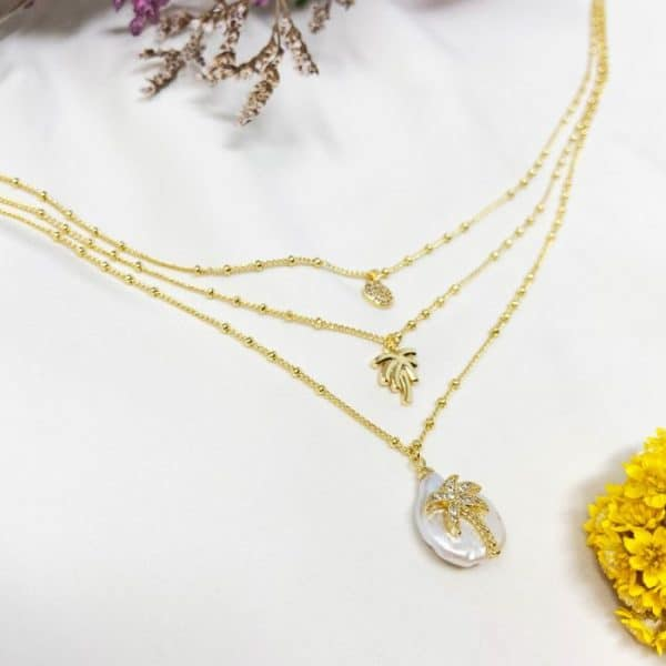 Palma-Three-Palma-Triple-Chain-Gold-Necklace-with-Pearl-&-Charms-Marlow-Buckinghamshire-United-Kingdom-Toria-Lee-Accessories