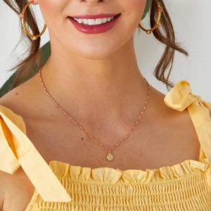 Selina-Gold-Necklace-with-Neon-Coral-Beads-Marlow-Buckinghamshire-United-Kingdom-Toria-Lee-Accessories