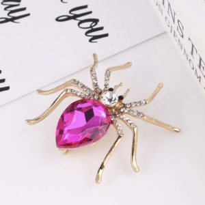 Pink-Crystal-Spider-Pin-Brooch-Marlow-Buckinghamshire-United-Kingdom-Toria-Lee-Accessories