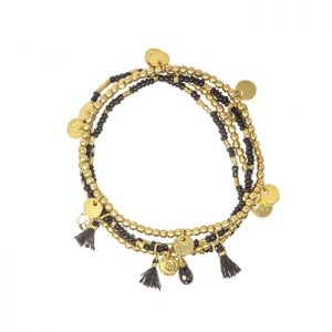 Treasure-Island-Beaded-Bracelet-with-Gold-Coin-Charms-Marlow-Buckinghamshire-United-Kingdom-Toria-Lee-Accessories