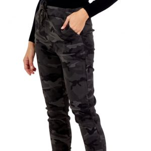 Camo Pattern Sparkly Magic Trousers in slate