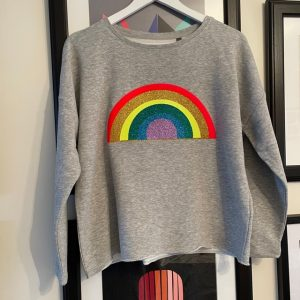 Grey-Sweatshirt-with-Sparkly-Rainbow-Design-Marlow-Buckinghamshire-United-Kingdom-Toria-Lee-Accessories-casual-wear-gymwear-sports-luxe-loungewear-designer-fashion-london-trendy-