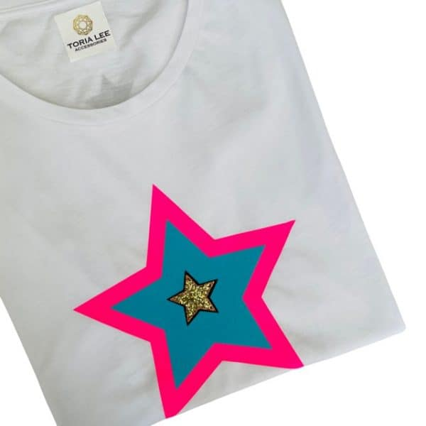 Star Colour Pop Scoop Tee White