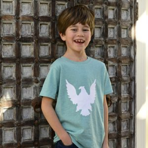 Kids-Green-T-Shirt-with-Eagle