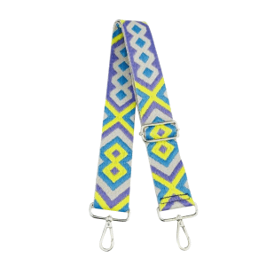 Aztec-Bag-Strap-in-Blue-Neon-Yellow-and-Lilac-Marlow-Buckinghamshire-United-Kingdom-Toria-Lee-Accessories